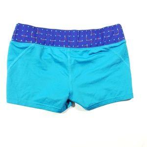 Reebok Shorts - Reebok size xsmall Womens blue teal stretch shorts